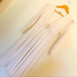 SALE Halston Heritage long sleeve offwhite dress
